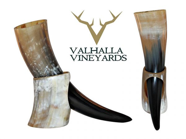 Natural Style Viking Drinking Horn with Stand