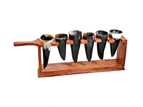 Valhalla Buffalo Horn Shot Serving Rack