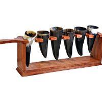 Valhalla Buffalo Horn Shot Serving Rack